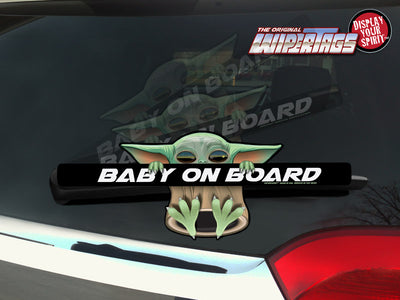 Baby Yoda on Board WiperTag