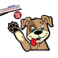 Barley Rescue Dog Waving WiperTags