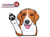 Benny the Beagle Waving Dog WiperTags