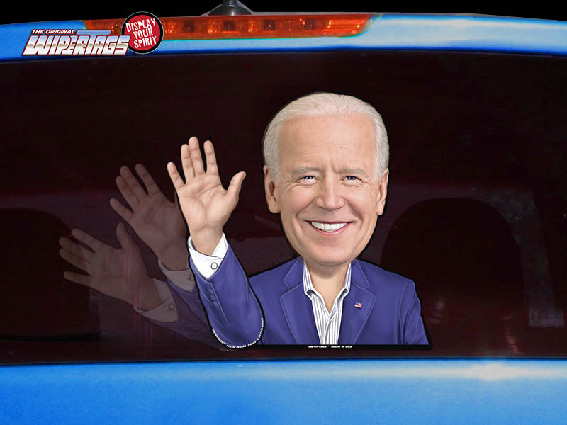 Ridin with Biden Waving Hand WiperTag