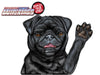 "Black Pug ""Coal"" Waving WiperTags"
