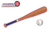 Blue White & Red Bat WiperTags with Ball Decal