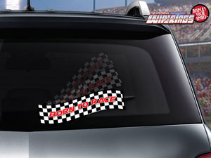 Born To Race Checkered Flag WiperTag