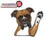 Boxer BOSCO Waving Dog WiperTags