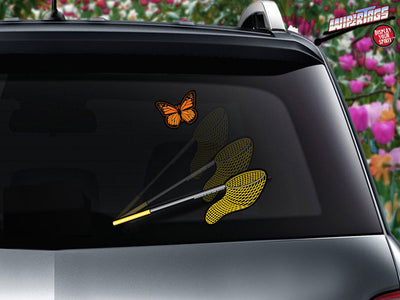 Butterfly Catcher Net WiperTag with Butterfly Decal