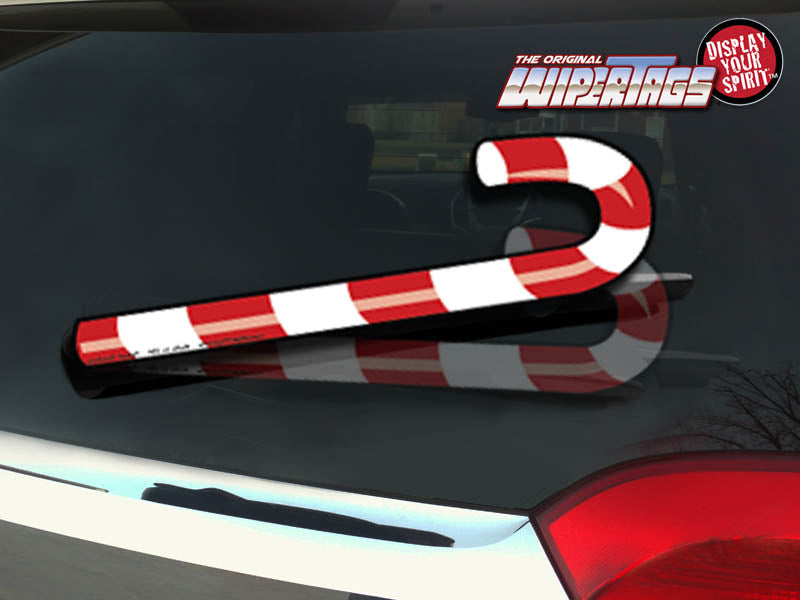 Candy Cane WiperTags