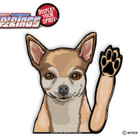 Bella the Chihuahua Waving WiperTags