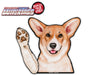 Corgi Charlie Waving Dog WiperTags