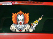 Crazy Killer It Clown WiperTag
