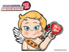 Cupid Waving Valentine WiperTags