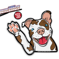 Daisy Rescue Pitbull Waving WiperTags