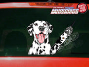 Pepper the Dalmatian Dog Waving WiperTags