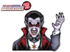 Dracula Vampire Waving WiperTag with Decal