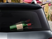 Drink wine be happy bottle wiper cover for rear wiper blade