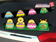 Peep-a-Boo Chicks & Eggs WiperTags & Window Decal
