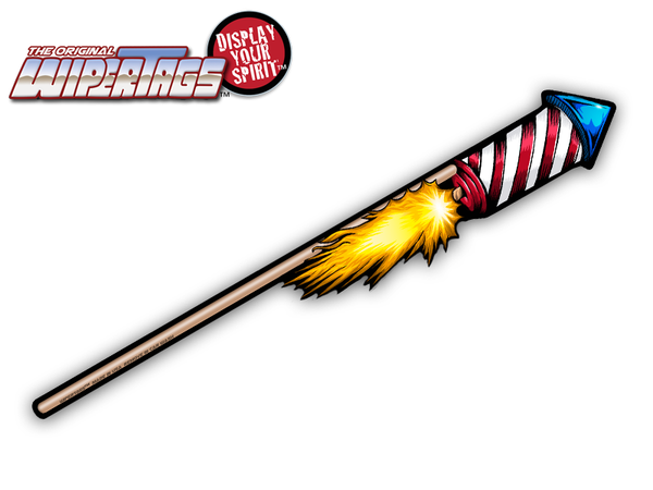 Fourth of July Firework Rocket WiperTag