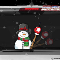 Flakes the Snowman WiperTag