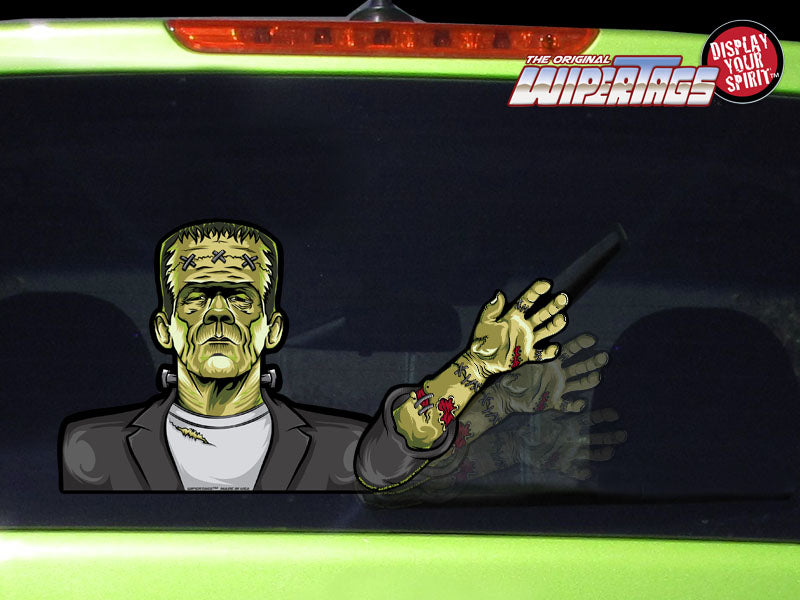 Frankenstein Waving WiperTag with Decal