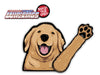 Bailey Golden Retriever Dog Waving WiperTags