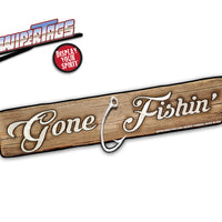 Gone Fishin' Sign WiperTag