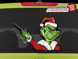 Grim Santa Waving WiperTags