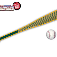 Green & Yellow Baseball Bat WiperTags with Ball Decal