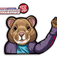 Hamster Waving WiperTags