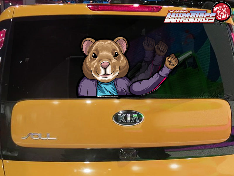 Kia Soul Colors >> Hamster Waving WiperTags attach to rear wiper blades for ...