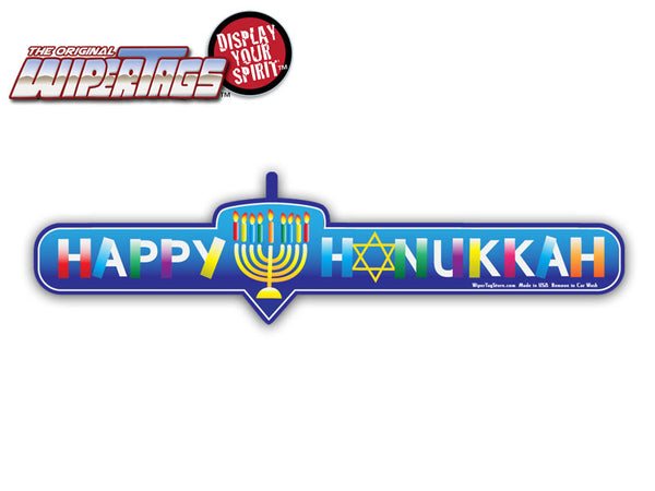 Happy Hanukkah WiperTags