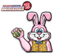 Easter Jelly Bean the Bunny WiperTag with Decal
