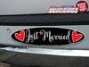Just Married Hearts WiperTags