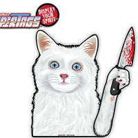 Killer Kitty with a Knife WiperTags