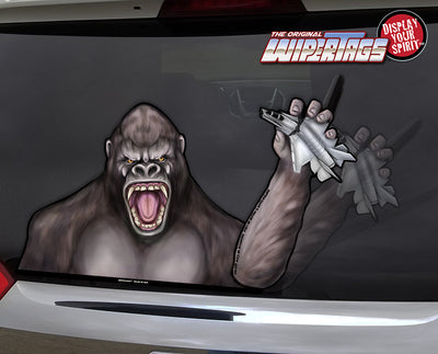 Kong Waving Plane WiperTags