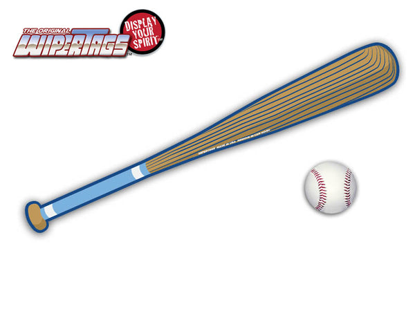 Light Blue & Royal Baseball Bat WiperTags with Ball Decal