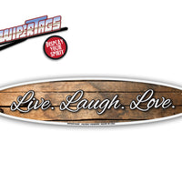 Live, Laugh, Love Wood Grain WiperTags