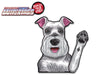 Missy the Schnauzer Waving Dog WiperTags
