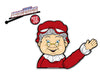 Mrs Claus Waving Arm WiperTag with Decal