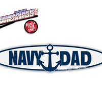Navy Dad Anchor WiperTags