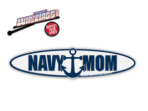 Navy Mom Anchor WiperTags