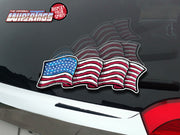 Old Glory USA Waving Flag WiperTag