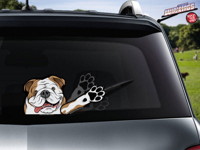 Otis the Bulldog Waving WiperTags