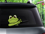 Peace Waving Green Frog