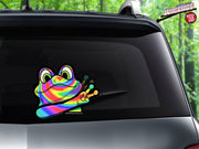 Peace Waving Rainbow Frog