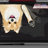 Pomeranian Dog Betty White Waving WiperTags