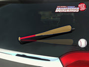 Red & Navy Bat WiperTags with Ball Decal