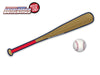 Baseball - Red & Navy Bat WiperTags with Ball Decal