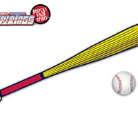 Baseball-Red & Yellow Bat WiperTags with Ball Decal