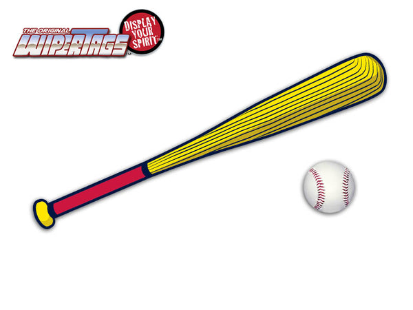 Red & Yellow Bat WiperTags with Ball Decal