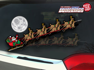 Santa Sled with Reindeer WiperTags