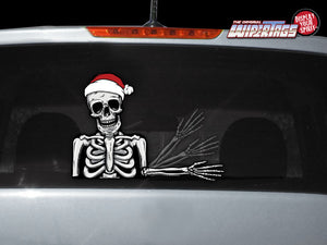 Santa Skully Waving Skeleton